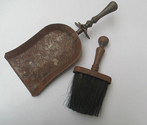 Ironmongery World® de hierro fundido Vintage rústico juego de pala y cepillo...