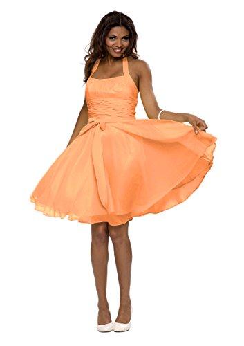 318b0435bdb123 Astrapahl, Neckholder Cocktailkleid, Abendkleid, Festkleid, knielang, Farbe mango  Mango