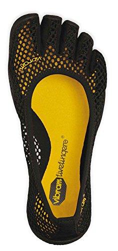 Mulheres De Cinco Dedos Vi-b - Senhoras Conjunto Bailarina Toe Sapato / Sapato Minimalista Com Meias Toe Preto Livre