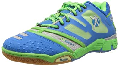 Kempa Kudos 200845901, Unisex - Erwachsene Sportschuhe - Handball, Blau (kempablau/fluogrün/silber 01), EU 44.5 (UK 10) (US 10.5)