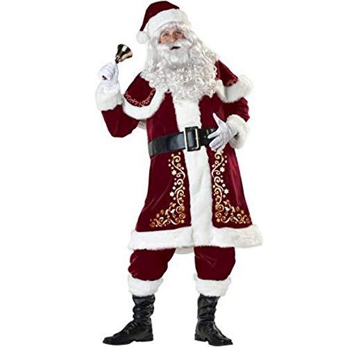 Profi Deluxe Weihnachtsmannkostüm für Erwachsene – hochwertiges Gold -