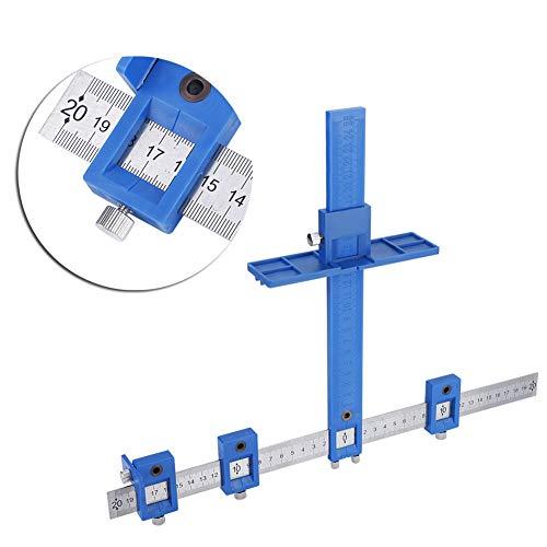 Einstellbare Locher Locator Bohrer Führungshülse Multifunktionale Schrank Hardware Jig Schublade Möbel Holzbearbeitung Pull Jig Tool Set Blau
