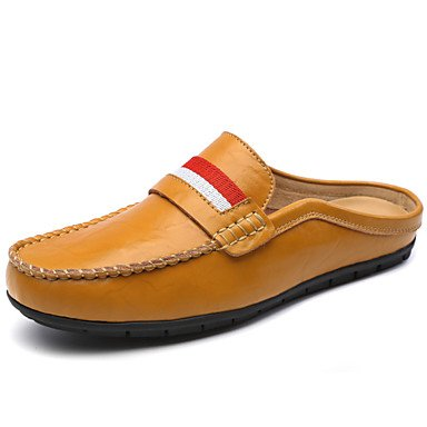 Chaussures d'hommes Outdoor / Bureau Carrière / Trotteurs en cuir décontracté noir / bleu / Marron / Blanc White