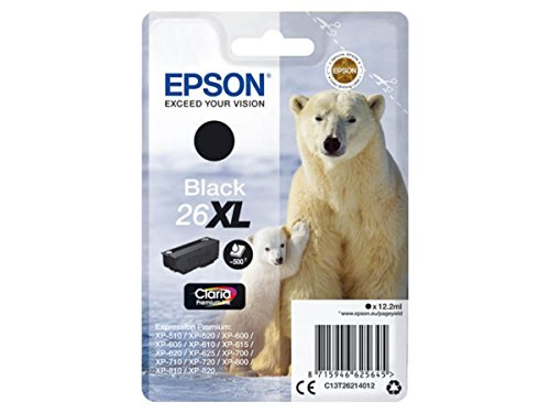 Preisvergleich Produktbild Epson original - Epson Expression Premium XP-520 (26XL / C13T26214012) - Tintenpatrone schwarz - 500 Seiten - 12,2ml