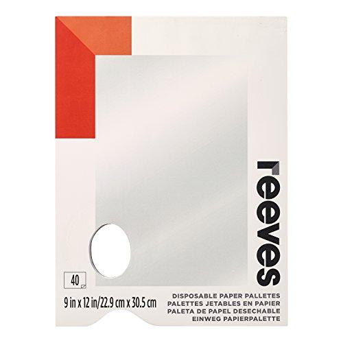 Reeves - Paletas de pintura desechables 9 x 12 in - 40 hojas