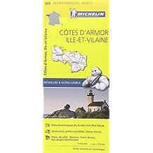 Carte Côtes dArmor, Ille-et-Vilaine Michelin