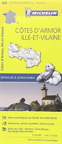 Descargar Libro Carte Côtes dArmor, Ille-et-Vilaine Michelin de Collectif Michelin