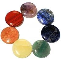 Edelstein SET mit 7 Chakra Steinen (rund) in Samtbeutel preisvergleich bei billige-tabletten.eu