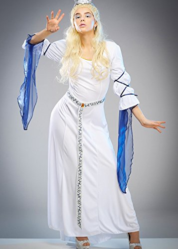 Magic Box Int. Adut Damen White Witch Narnia Style Kleid Large (UK 16-18) (Narnia Kostüme Für Erwachsene)