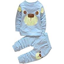 Ropa de bebé, RETUROM invierno caliente niños oso impresión camiseta Tops, ropa pantalones largos