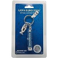 Porte-cléfs LED avec charm du trophée officiel (2D) de l'UEFA EURO 2016