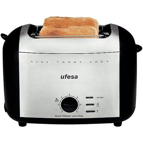 Ufesa TT7980 - Tostadora Mini Toast, color negro y plata