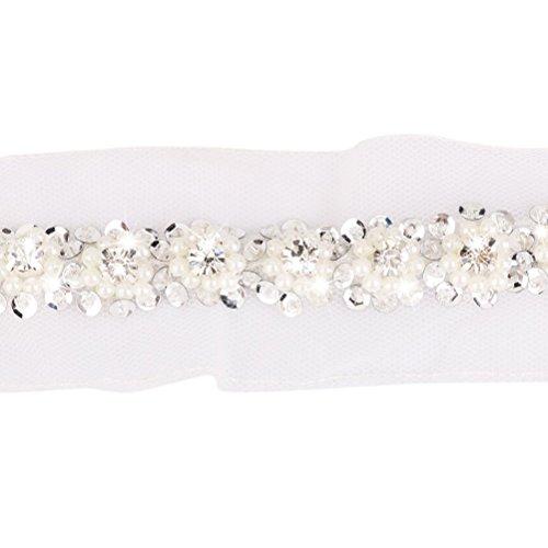mit Perlen und Strass Korne DIY Nähen Band (Weiß) ()