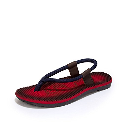 Men's Beach Breathable Flip Flops Casual Slippers red