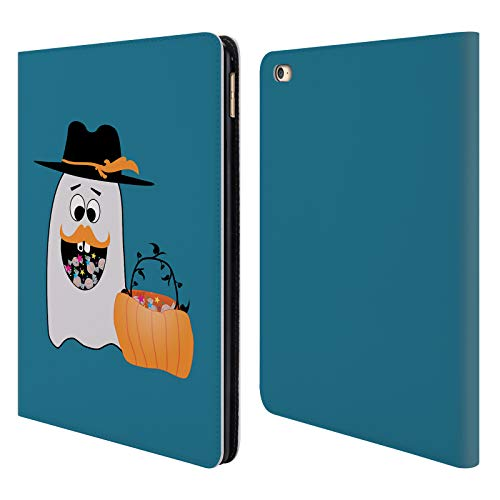 Head Case Designs Offizielle PLdesign Dummer Geist Halloween Brieftasche Handyhülle aus Leder für iPad Air 2 (2014)