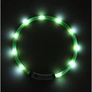 EasyDog USB Rechargable Flashing Band (Green)