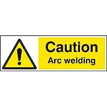 Caledonia signos 24212G precaución soldadura al arco signo, vinilo autoadhesivo, 300mm x 100mm