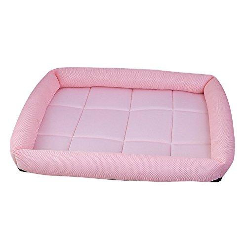 lulalula Kühlung Pet bett, PET Sofa Bett, gepolstert komfortable Kühlung Matte Kissen Sofa Cool Ice Silk Net Bett für Hunde, Katzen oder Puppy (S, Pink) -