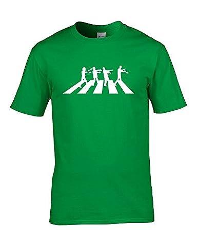Ice-Tees - T-shirt - Col Ras Du Cou - Manches Courtes - Homme - jaune - XX-Large