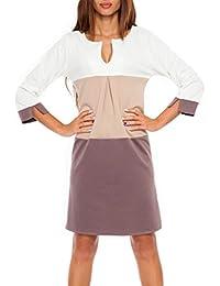 Glamour Empire. Femme Robe droite color block avec poches S-3XL. 303