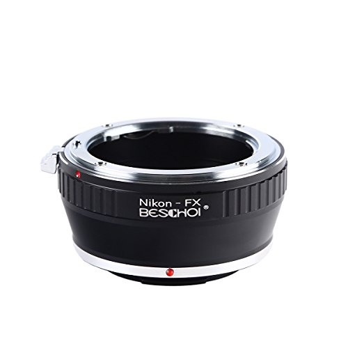 Beschoi Adaptador de Lente para Nikon F Montura AI a Fujifilm FX Montura de Cuerpo de Cámara de X-Series, Se Adapta a Fuji X-Pro1 X-Pro2 X-E1 X-E2 X-M1 X-A1 X-A2 X-A3 X-A10 X -M1 X-T1 X-T2 X-T20 X30