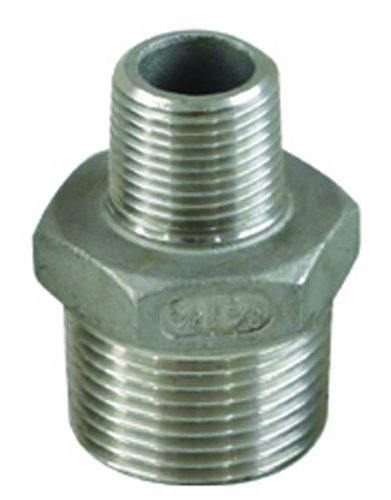 Edelstahl Fitting V2A Reduzier Doppelnippel AG-AG, 2 Zoll x 1, 1/4 Zoll