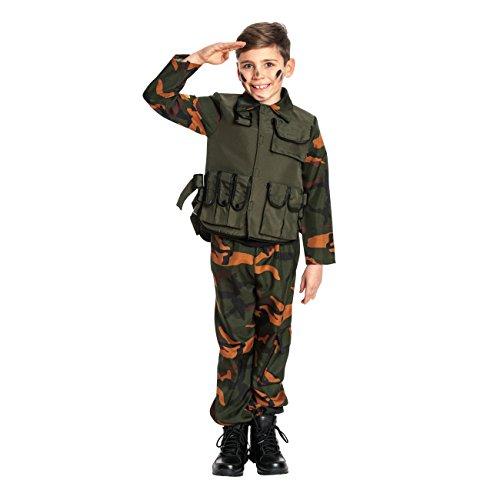 Für Jungen Soldat Kostüm - Kostümplanet® Militär Kostüm Kinder Militärkostüm Soldat Kostüm Jungen Soldatenkostüm Größe 140