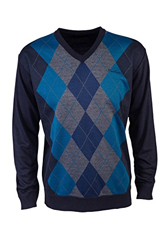 pierre-cardin-mens-new-season-v-neck-argyle-knitted-jumper-xl-navy-teal