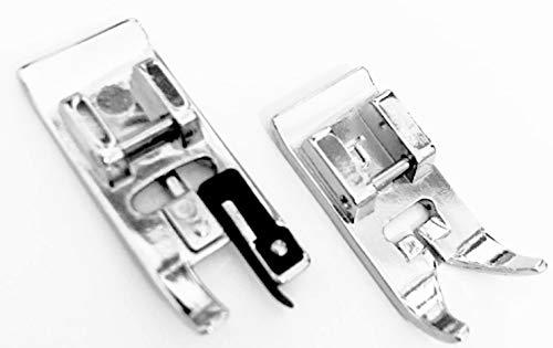 Overlockfuß Nähfuß + Zick Zack Fuß Standardfuß für Necchi Nähmaschinen 559 -