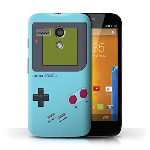 Stuff4® Hülle/Case für Motorola Moto G (2013) / Hellblau Muster/Videogamer/Gameboy Kollektion - Case Gameboy Motorola Moto G