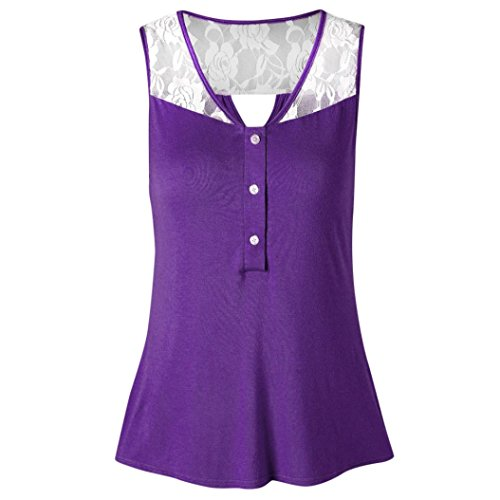 Damen Sommer Tank Crop Tops Vest Tanktops Weste Cami DOLDOA Oberteile T-Shirt Geburtstags Geschenk Für Frauen Mädchen Freundin (EU:40, Lila - 12) (Tabletop-sport-spiel)