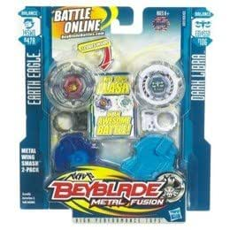 TOUPIES BEYBLADE METAL FUSION EARTH EAGLE & DARK LIBRA