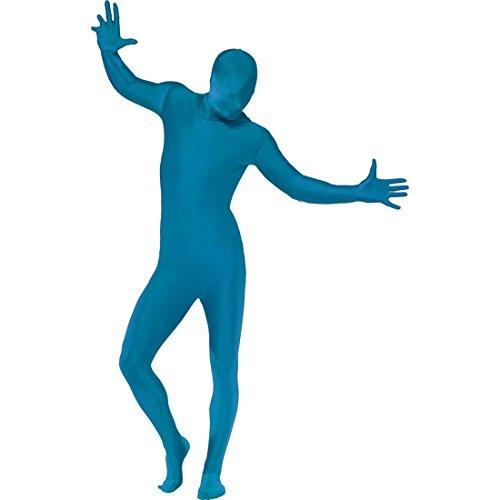NET TOYS Ganzkörperanzug Zweite Haut blau M 48/50 Ganzkörperkostüm Second Skin Kostüm Stretch Anzug Faschingskostüme Karnevalskostüme Männer Herren (Blue Mann Group Kostüm Für Erwachsene)