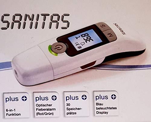 Sanitas SFT 77 Multi Thermometer 6in1 Kinder Ohrthermometer Stirnthermometer NEU