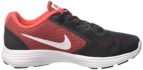Nike Men's Nike Revolution 3 Running Shoe, Chaussures de Fitness homme Gris (Anthracite/white/track Red)