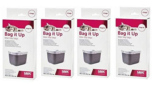 Cajou 24 Katzentoilettenbeutel Hop In - Hygienebeutel für Katzentoilette Hop In