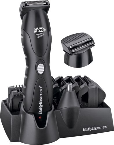 body groomer - 41MRMB7PJJL - High Quality BaByliss For Men Dual Blade Lithium Face and Body Groomer