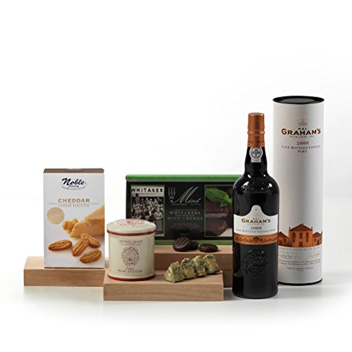 Hay Hampers Port & Stilton Traditional After Dinner Hamper Box - FREE UK Delivery