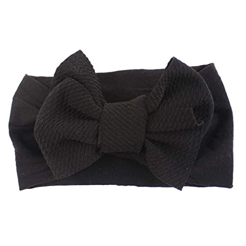 Lazzboy 1 Stück Baby Kleinkind Mädchen Bowknot Stirnband Stretch Haarband Headwear Stirnband, Nordischer Stil Großer Headwrap Für Neugeborene Kids Girls(C)