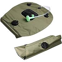 Bolsa de ducha solar - 20L Bolsa de agua para baño de ducha para acampar - Con cabezal de ducha Ligero Portátil Desmontable Encendido-Apagado Conmutable para senderismo Escalada Camping