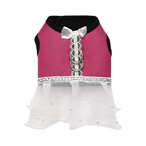 nd Oxford Stoff Chest Harness Dress Robe - Größe L (Rosy) ()