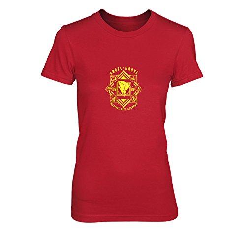 Angel Grove Academy - Damen T-Shirt, Größe: XL, Farbe: ()