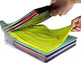 EZSTAX 10pcs Organizador de Armario Camiseta Carpeta Sistema Antiarruga (20pcs, Clear)