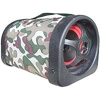 ZHUHAI HONGKANG DONGMAO TRADING CO LTD Paño de Camuflaje de 5 Pulgadas Compatible con Entrada de Audio Externa Car Subwoofer Bass Audio Tunel 12V 24V 220V para TF USB