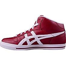 Asics Scarpe Ragazzo Uomo Aaron MT GS C5B4Y Sneaker Alta LAcci Rosso Bianco