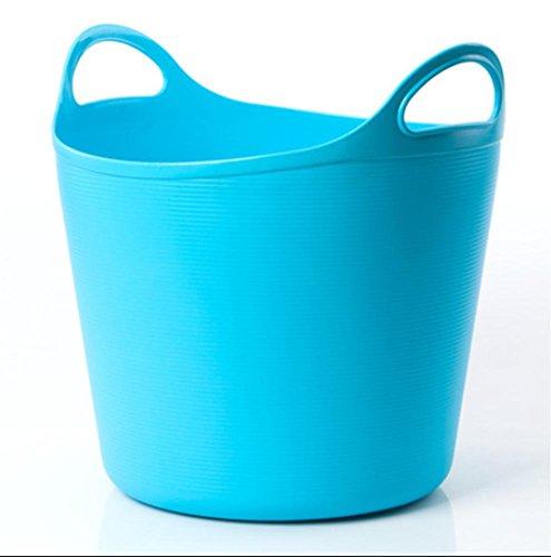 reative Soft Kunststoff Wrestling Schmutz Korb von Lagerung Korb Fuß Badewanne Fuß Becken blue blau (Schritt 2 Blaue Wagen)
