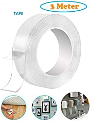 Unique Store Double Sided Adhesive Tape, Transparent Strong Adhesive Traceless Tape Removable Washable and Reu