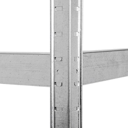 Lagerregal verzinkt belastbar bis 875 kg – Maße: 180 x 90 x 40 cm Regal Steckregal Kellerregal Werkstattregal Schwerlastregal - 6