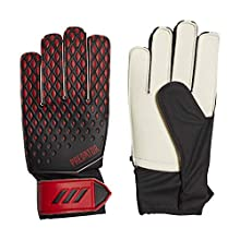 adidas Kids' PRED GL TRN J Soccer Gloves, Black/Active red, 5