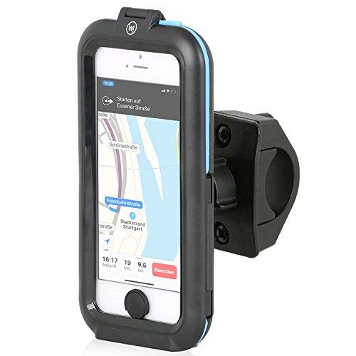 Wicked Chili Tour Case für Apple iPhone SE / 5S / 5 - Outdoor Fahrradhalterung Bike Navigation mit Apple Touch ID Funktion (Spritzwasserschutz IPx5, Ladekabelanschluss, Kopfhörerbuchse) schwarz, für iPhone SE / 5 / 5S